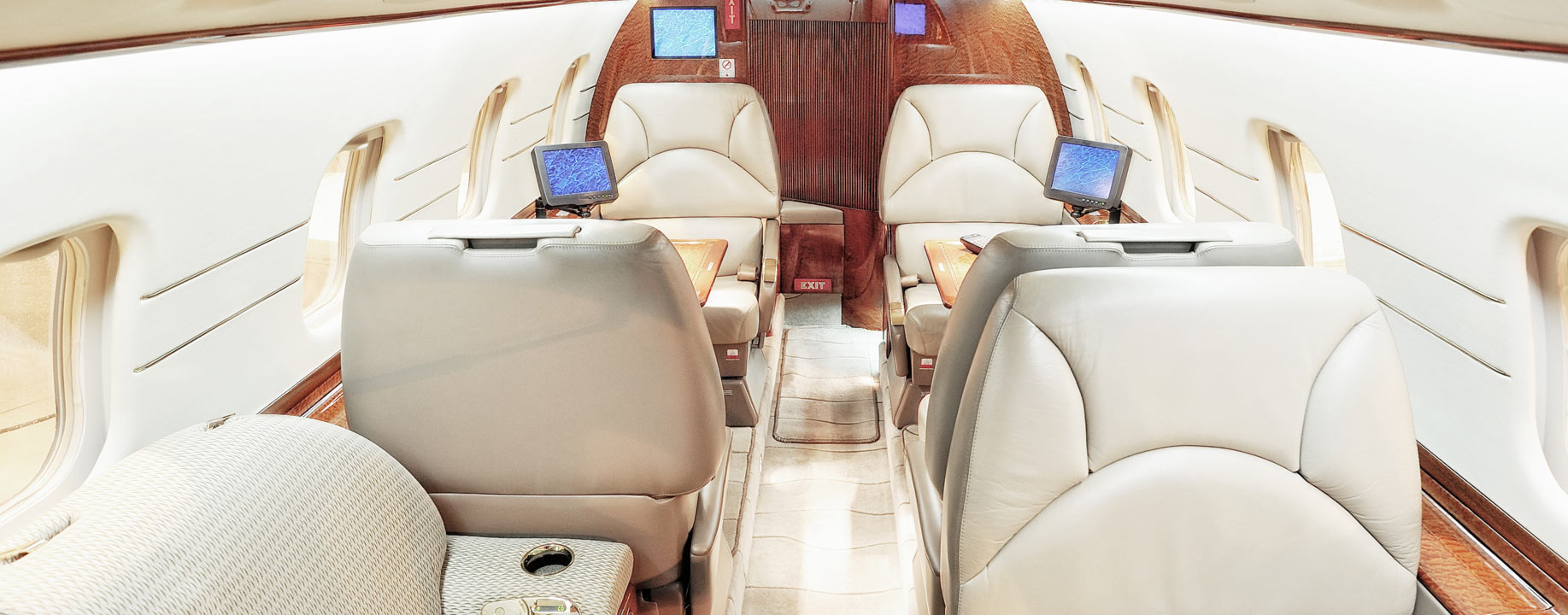 Luxury interior of aircraft