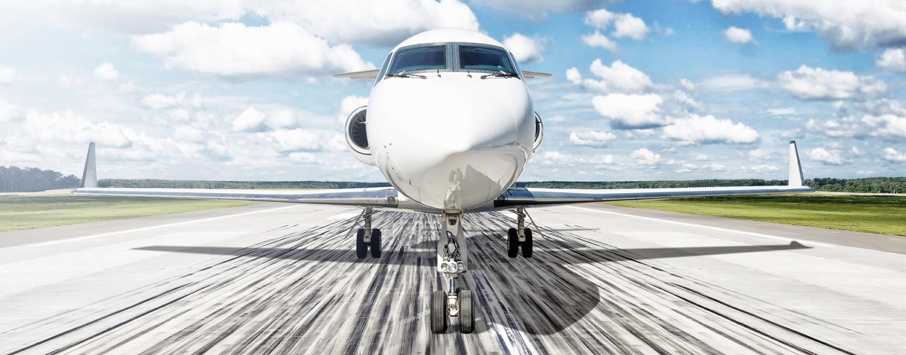 Aircraft in runway